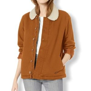Fox Junior Sherpa Lined Stretch Twill Jacket Taupe